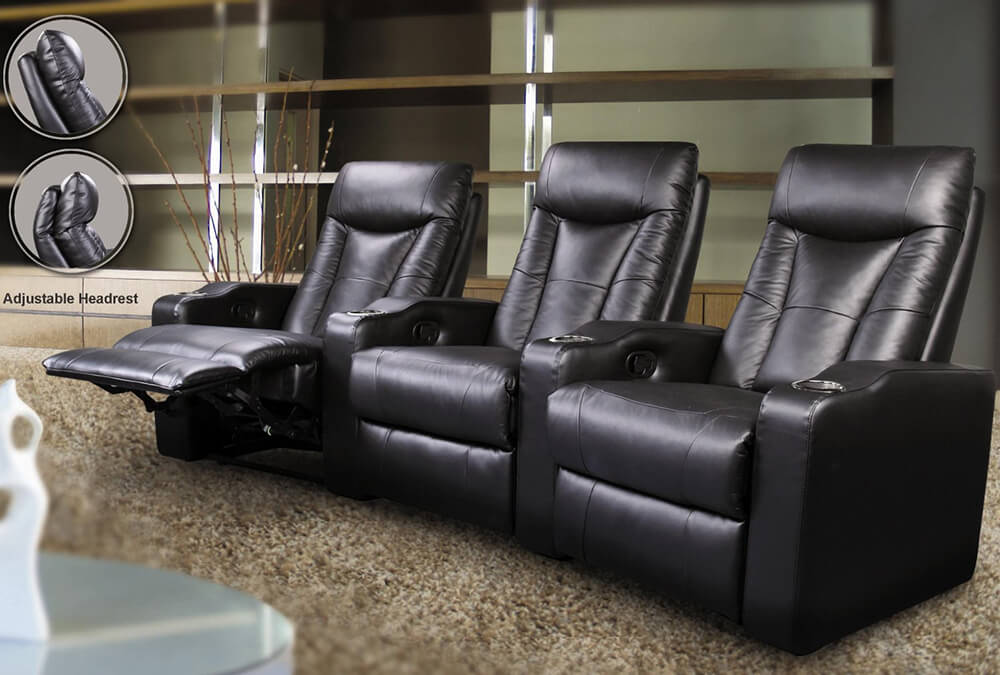 home theater reclining sectional sofa manhattan luxury faux leather 3 seater bed top 21 types of recliners and chairs