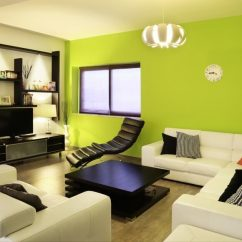 Contemporary Living Room Colors Black Brown And Cream Ideas Best For 2019 This Modern Uses A Vibrant Accent Wall Singular Color Pillow To Add