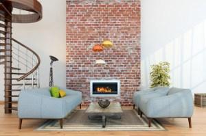 brick living fireplace walls dinding backstein batu bata parede innenwand dining paint stunning freshome sala papel rooms accent keramik rumah