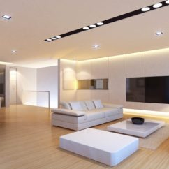 Lighting In Living Room Buy Chairs 40 Bright Ideas Here Is A And Simple Modern That Uses Number Of Recessed