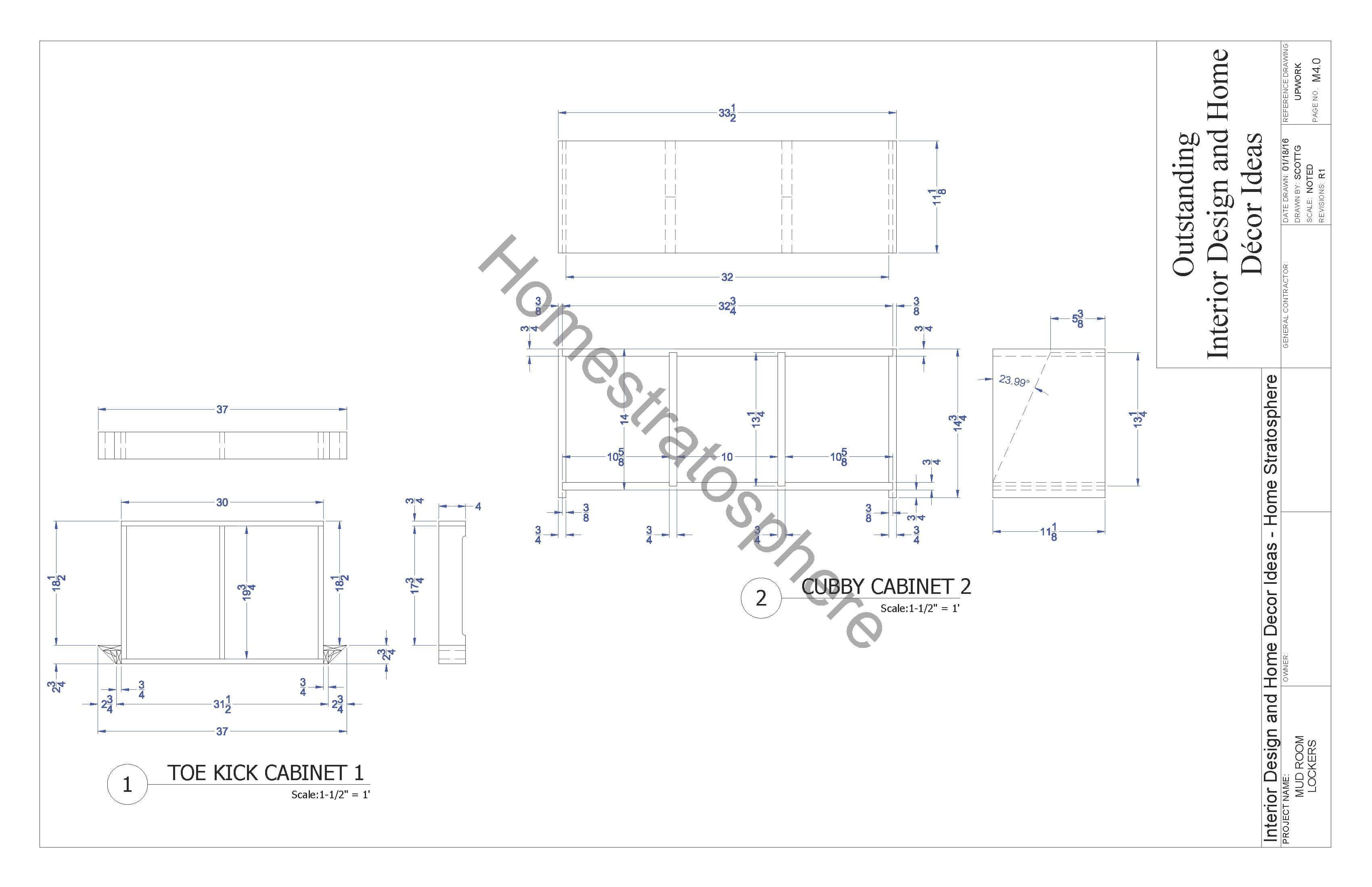 Free Mudroom Locker Plan with Storage Bench (PDF Blueprint)