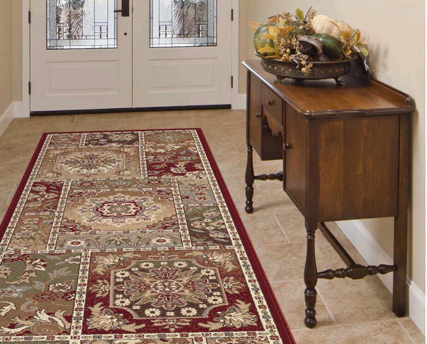 Spruce up an entryway with this colorful and detailed rug. Reds and creams are perfectly paired with a medallion pattern that gives this rug a heavy dose of charm and allure.