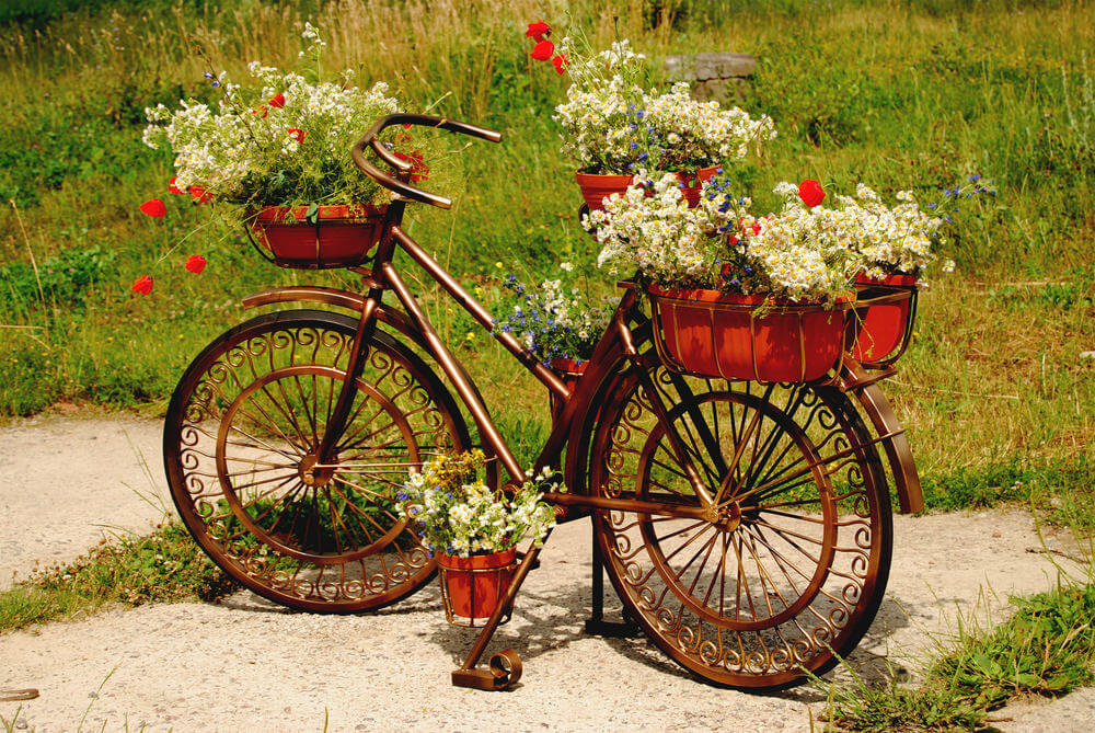 33 Bicycle Flower Planters For The Garden Or Yard  Home