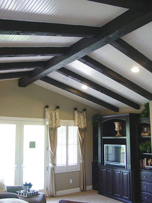 15 Faux Wood Ceiling Beam Ideas (photos