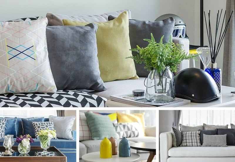 lime green sofa living room ideas sleeper couches sale 35 throw pillow examples (sofa décor guide) - home ...