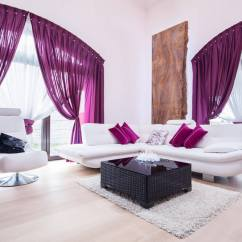 Purple Color For Living Room Pictures Of Cape Cod Style Rooms Best Colors 2019 Combine Light Grey White Walls With Violet Accents To Make Your As Regal