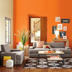 Orange Living Room Designs Hanging Lamps For 25 Ideas Currentyear This Is Brightened By Both The Daylight And Wall Painted In Bright