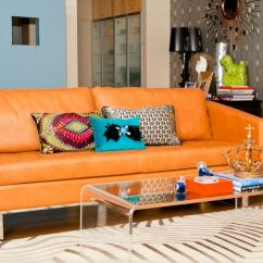Orange Couch Living Room Ideas Discount Furniture Nj 25 For Currentyear The Leather Sofa Is Glamour In Spotlight Of This A