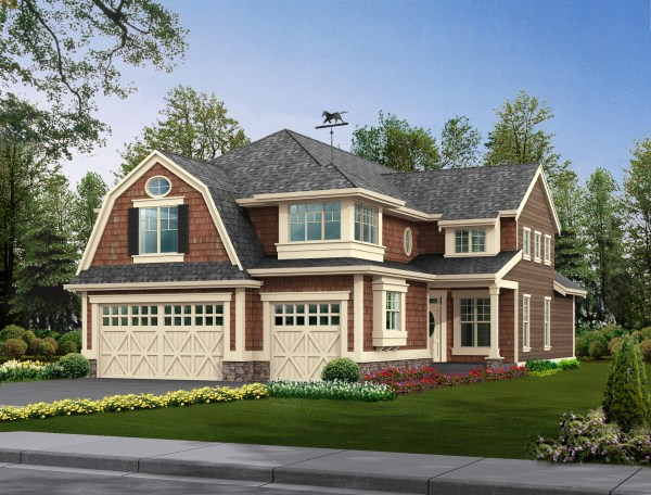 House Plans with Gambrel Roof Style