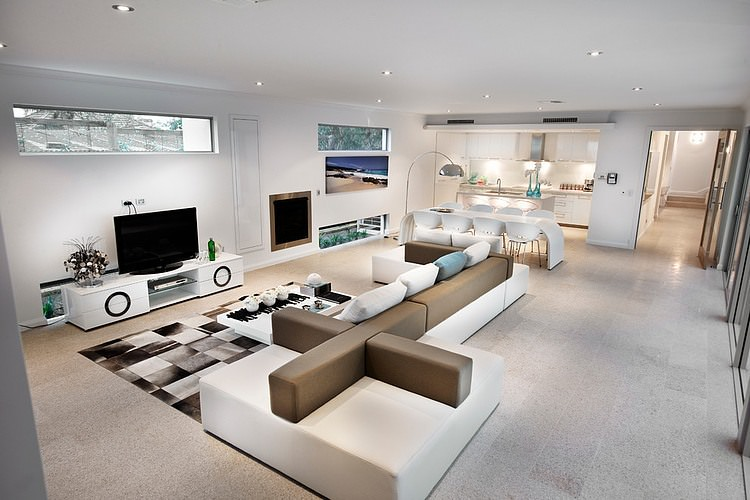 white couch living room ideas furniture placement for small rooms 72 with sofas and chairs another open concept this one showcasing geometrical artistry the off sofa
