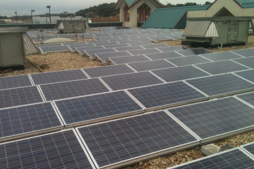 small resolution of gravel ballasted commercial solar rooftop