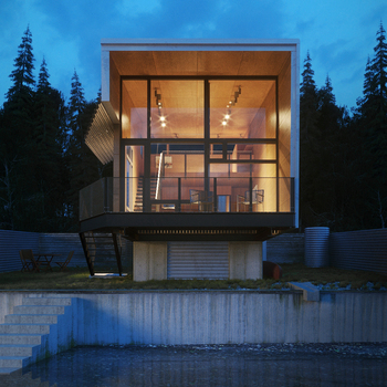 Natural Modern Custom Cabin Design By Prentiss Balance