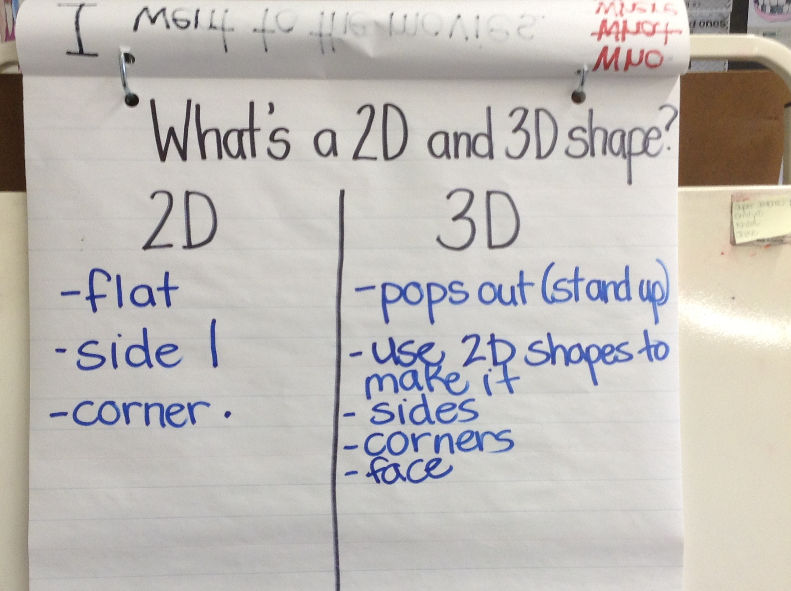 Understanding The Difference Between 2d And 3d Shapes Ms Mchugh S Class Grade 1 Amp 2 Class