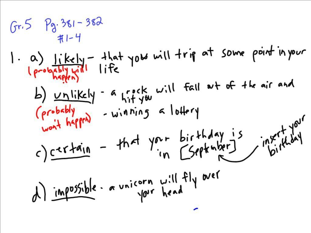 May 21 Math Gr 5 Amp 6 Probability Grade 6