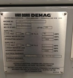 van dorn demag 400 ton injection molding machine 400hp1220 used van dorn bottle van dorn wiring diagram [ 1936 x 1936 Pixel ]