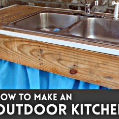 How To Make An Outdoor Kitchen Green Cabinets Sink I Like Stuff