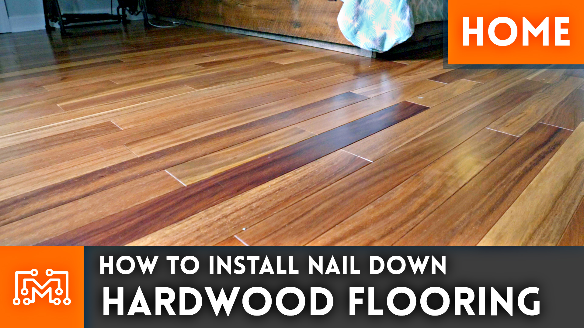 how to install nail down hardwood flooring home renovation i like to make stuff. Black Bedroom Furniture Sets. Home Design Ideas