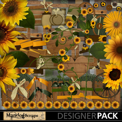 clip art country sunflowers- mandog