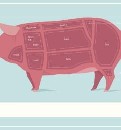 cuts of pork butcher shop diagram poster 18x12 inch [ 1024 x 817 Pixel ]
