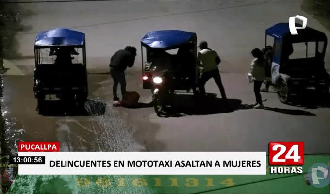 Pucallpa: 'raqueteros' asaltaron a pasajeros de mototaxi   Panamericana TV