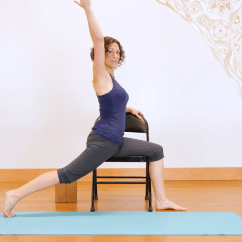 Wheelchair Yoga Poses Grey Check Chair Covers Never Leave Your For Everybody
