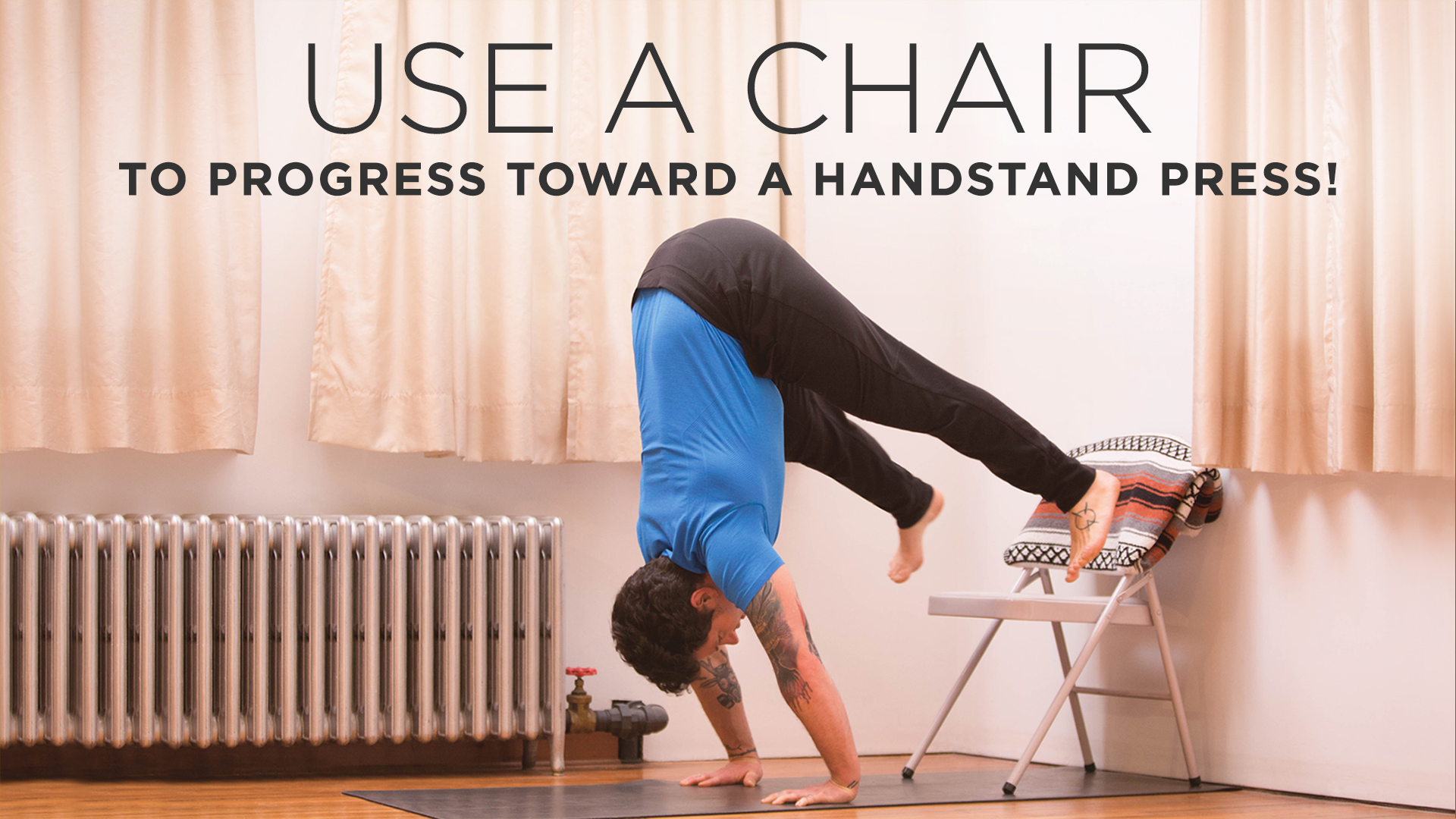 Use a Chair to Progress Toward a Handstand Press