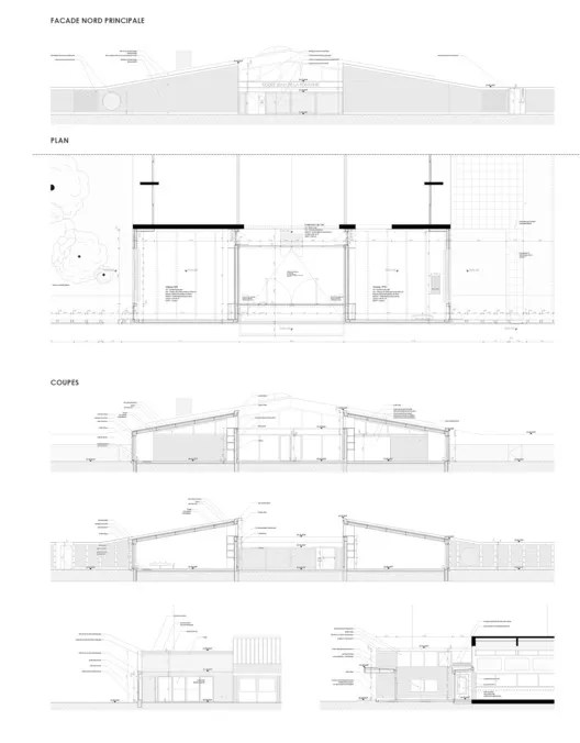 Ping Complex Plan Elevation Section : School extension la fontaine lt a free cad blocks