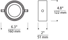 Tech Lighting 700KLCRM830S-LED K-Corum Contemporary Low