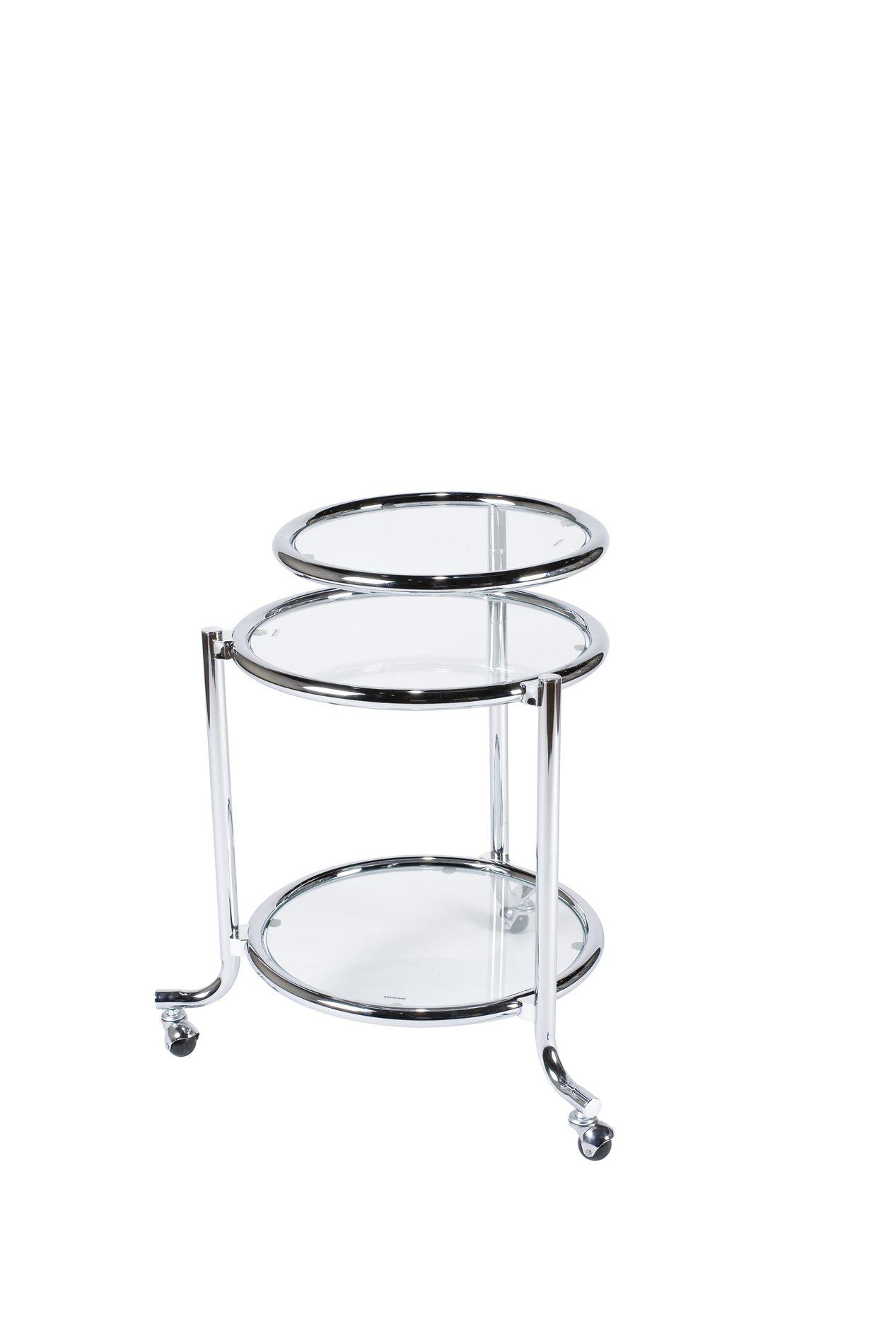 Adesso Wk Sonata Contemporary 3 Tier Rolling Glass Trolley Ad Wk