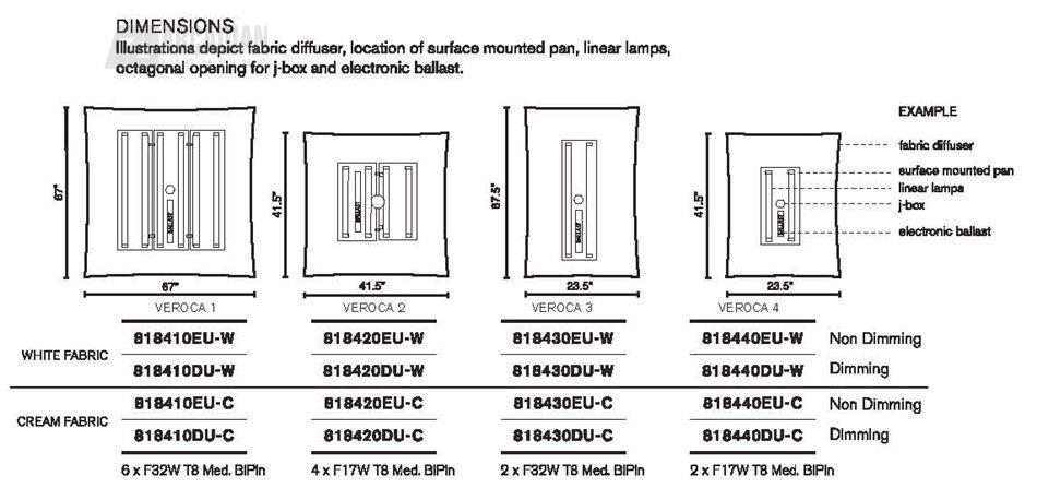 B.Lux 818420 Veroca 2 Flush Mount Ceiling Light BL-818420