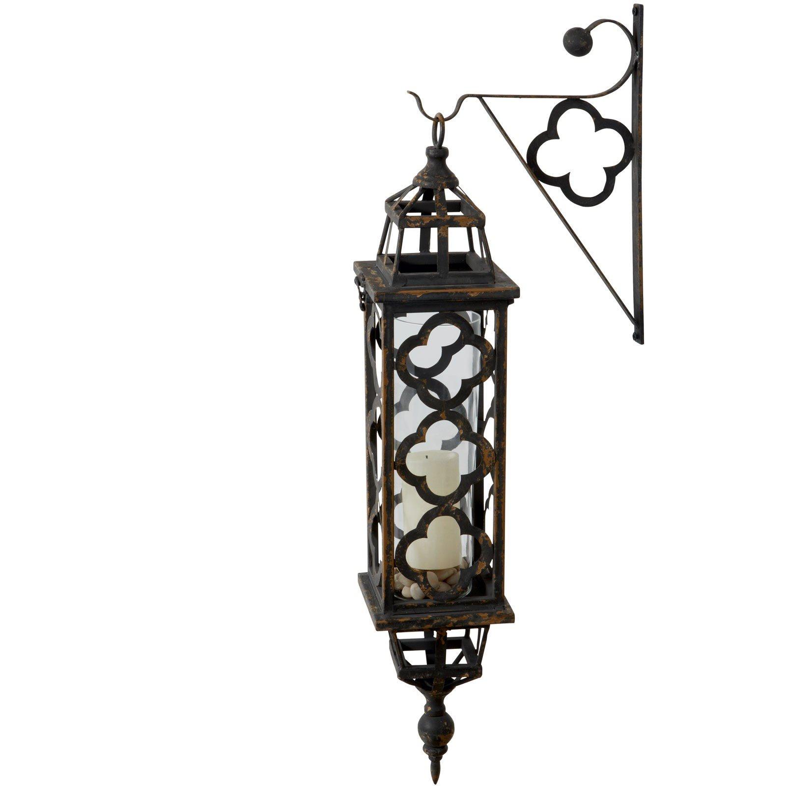Dimond Aged Black Quatrefoil Lantern Lzs