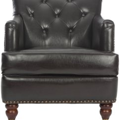 Safavieh Colin Tufted Club Chair High Banner Hud8212c Leather Sfv