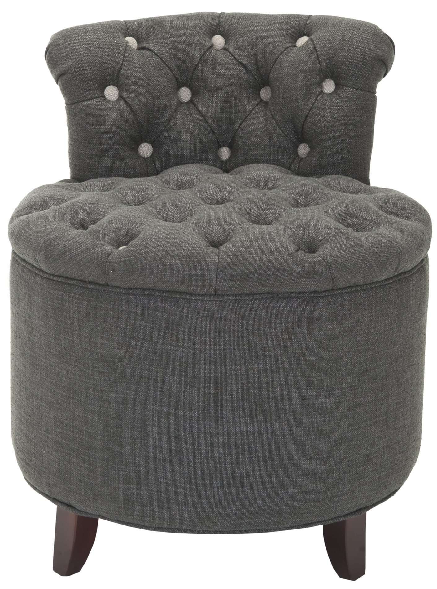 Tufted Vanity Chair Rebecca Tufted Vanity Stool