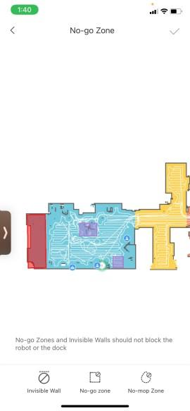 Roborock S6 MaxV Vacuum App Map