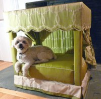 Charitybuzz: Exclusive Four Poster Pet Bed by Designer ...