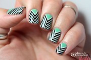 taped chevron nail art