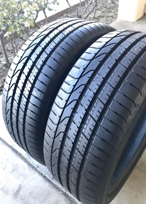 2 USED TIRES 245/40R20 Pirelli P ZERO RFT WITH 90%