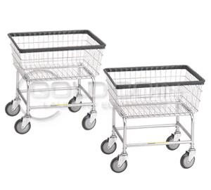 R&B Wire Narrow Laundry Cart (Qty: 2) #100D