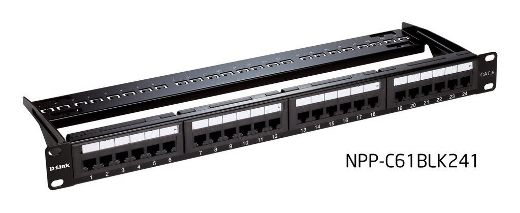 D-Link Cat6 UTP 24 Port Loaded Patch Panel, Rs.2080