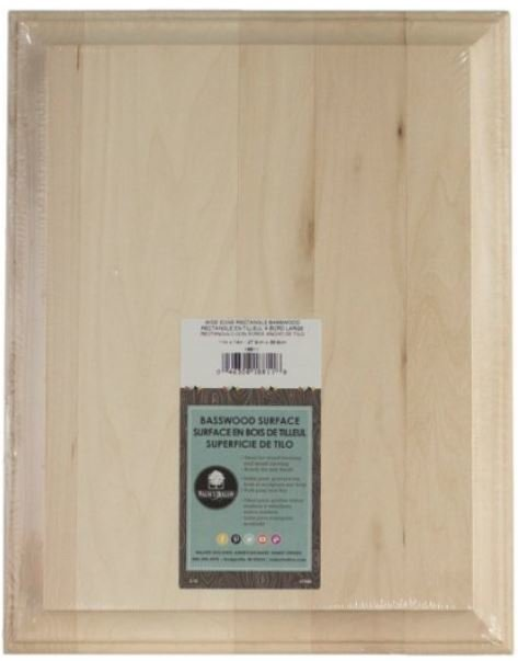"Wide Edge Basswood Rectangle - 11"" W x 14"" L WP003"
