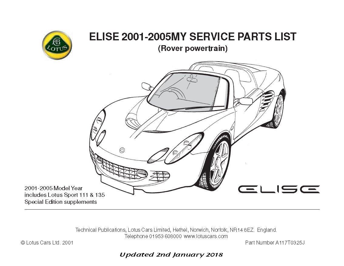 Teile-Handbuch Lotus Elise MK2 Rover 2001-2005