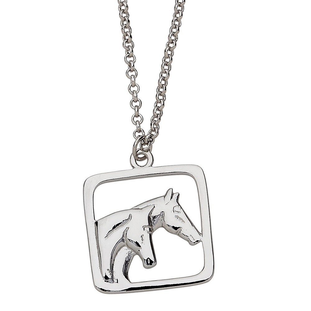 Pair of Horseheads Necklace – Chrysalis Acres