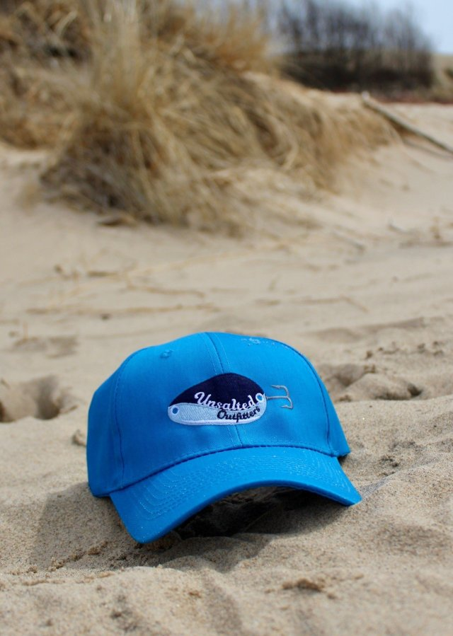 Embroidered Ocean Blue Tall Hat 00001