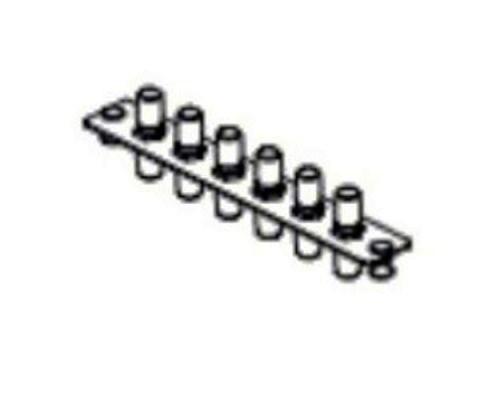 AX100534 PANEL F.O. 6 ST SM (6 SIMPLEX) BLACK BELDEN