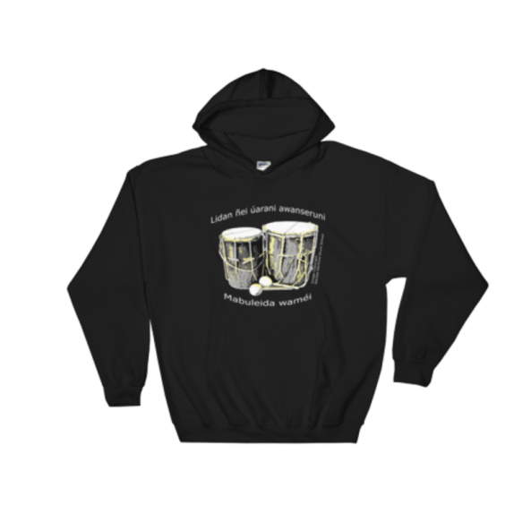 Black Hoodie with drums and 19th Nov 2017 theme