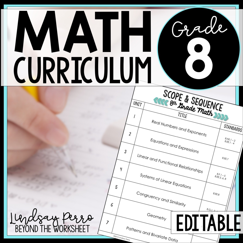 8th Grade Math Curriculum Store