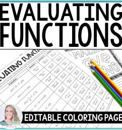 Evaluating Functions Fun Worksheet   Printable Worksheets and Activities  for Teachers [ 1500 x 1500 Pixel ]