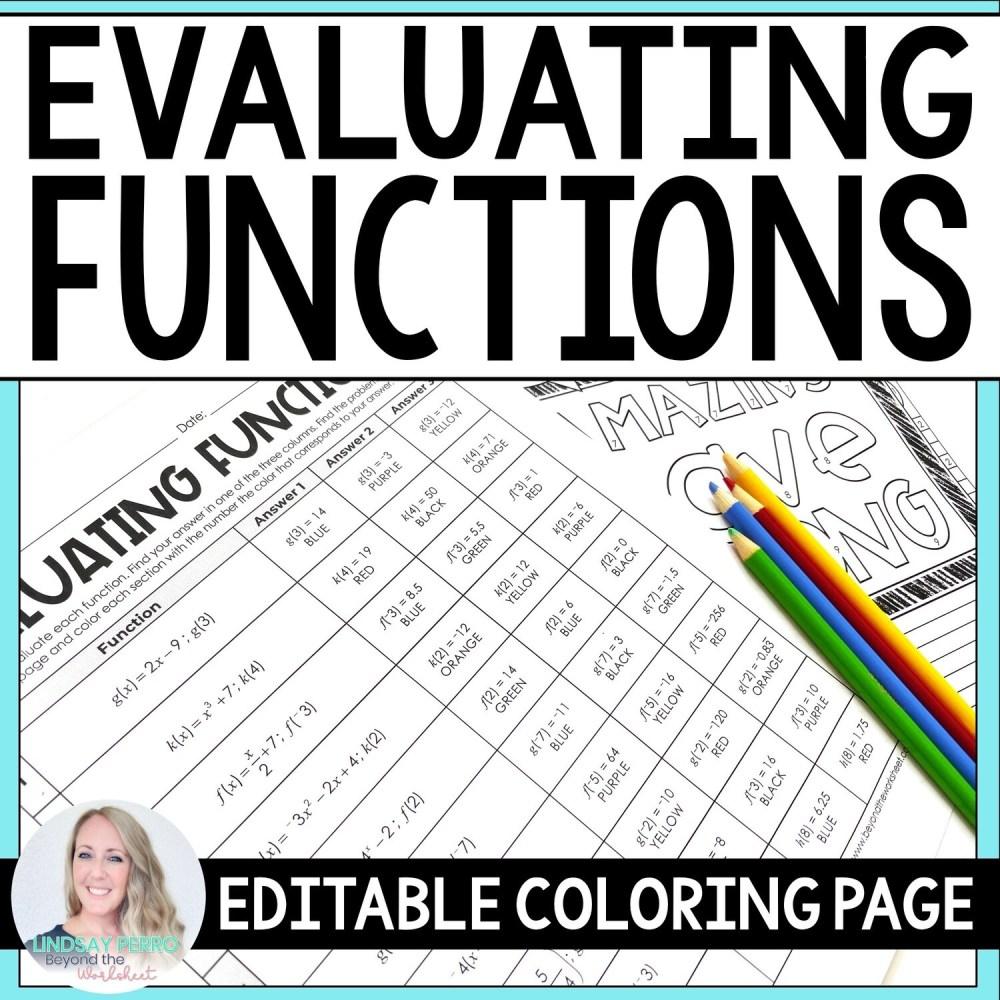 medium resolution of Evaluating Functions Fun Worksheet   Printable Worksheets and Activities  for Teachers
