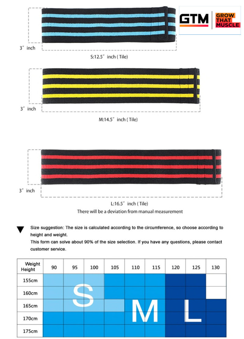 Fabric Resistance Band - 3 Sizes