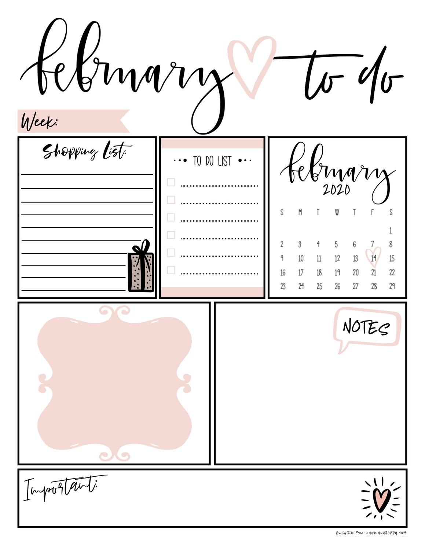 February Daily Organizer To Do List Free Printable